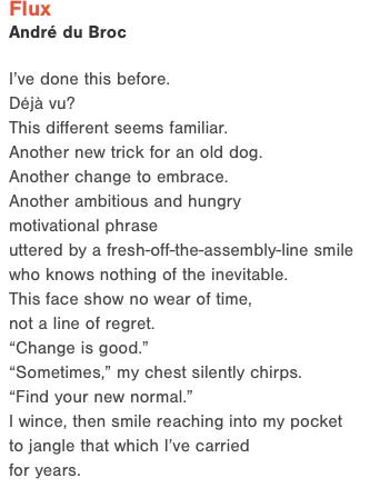 Flux Poem